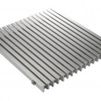 G-550S - 1 inch - Serrated Aluminum Foot Grille