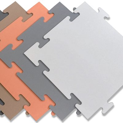 "Protect-All Tile - 1/4"" Recycled Vinyl Tile"