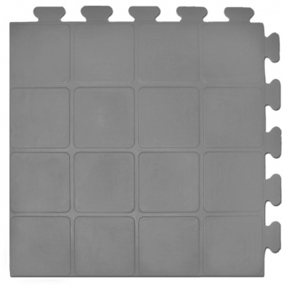 PT-200 - 9/16 inch - Raised-Square - Virgin Rubber Gym Tile