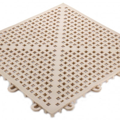 "Soft-Grid - 1/2"" Vinyl Interlocking Shower Tile"